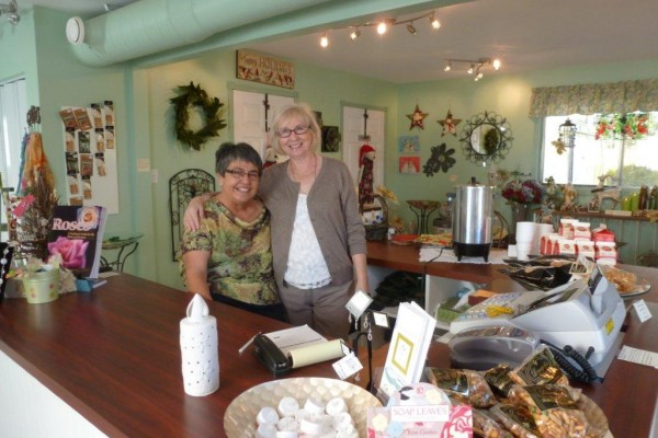 Two of our wonderful gift shop volunteers
